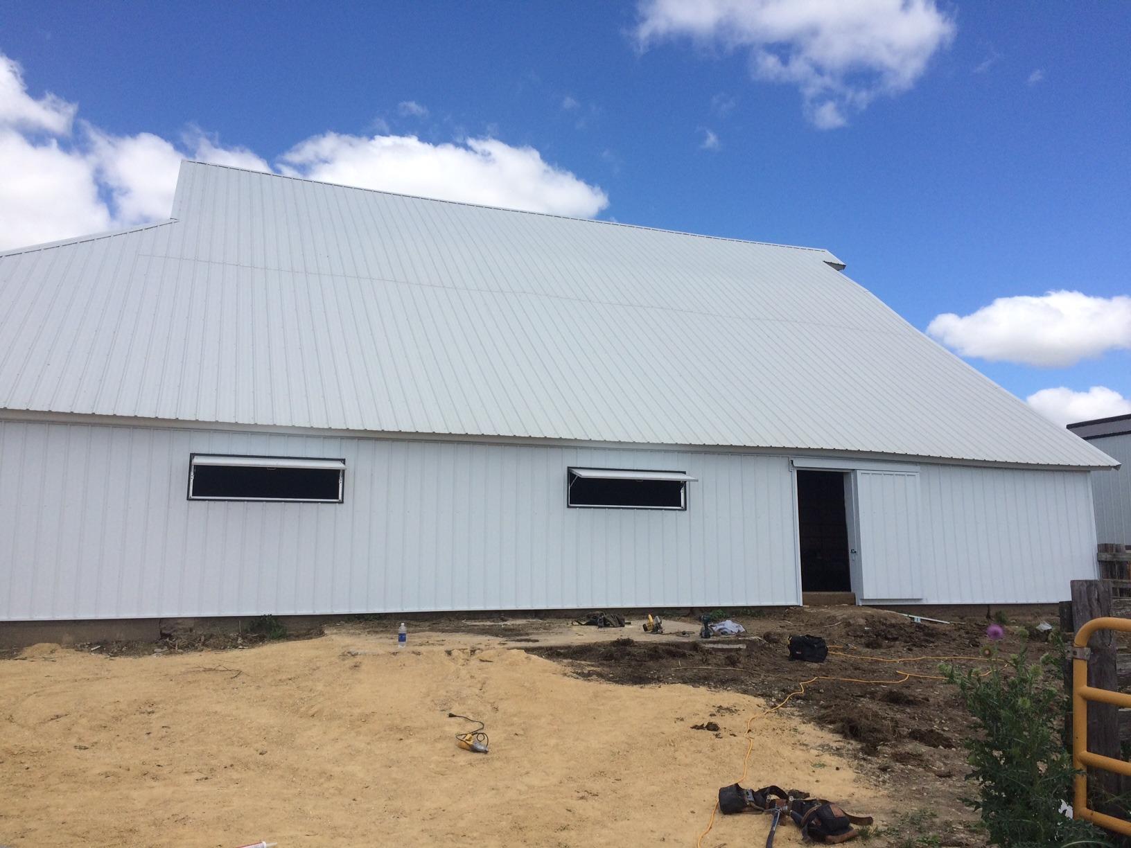 new siding on ag building barn