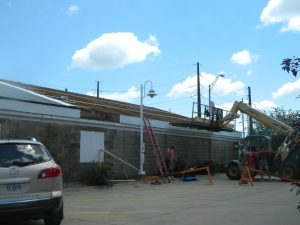 reskinning building